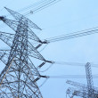 Foto Stock: Power transmission tower