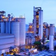 Industrial plant at dusk — Stock Photo