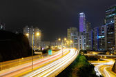 Highway with car light — Stockfoto