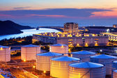 Oil tank in cargo service terminal — Stock Photo