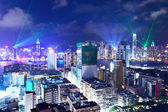 Crowded downtown building in Hong Kong — Stock Photo