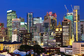 Città di singapore di notte — Foto Stock