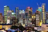 Singapur şehir gece — Stok fotoğraf