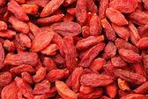 Hoop van gedroogde wolfberry fruit close-up — Stockfoto