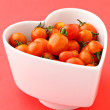 Cherry tomato with love — Stock Photo