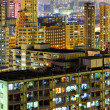 Illuminated architecture in Hong Kong at night — Photo