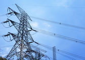 Power transmission tower — 图库照片