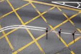 Cruce de carreteras en la ciudad — Foto de Stock