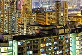 Illuminated architecture in Hong Kong at night — Stock Photo