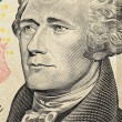 Alexander Hamilton on US ten dollars bank note — Stock Photo