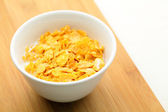 Corn flake in bowl — Stock Photo