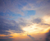 Cloudscape at evening — Stock Photo