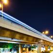 Highway traffic at night — Stock Photo