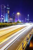 шоссе ночью — Стоковое фото