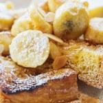 French toast with banana — Stock Photo #28586353