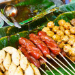 Thailand style grilled food on street — Stock Photo