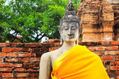 Ancient Buddha in Ayuthaya, Thailand — Stock Photo