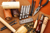 Craft tool for leather accessories — Stock Photo