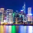 Hong Kong city view at night — Stock Photo