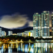 Sha Tin in Hong Kong at night — Foto Stock