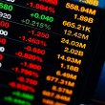 Stock market data — Stock Photo