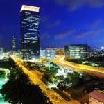 hong kong stadt bei nacht — Stockfoto #29640657