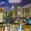 Hong Kong cityscape at night — ストック写真