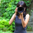 Asian woman taking photo — Stock Photo #29641255