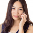 Asian woman using mobile phone — Stock Photo
