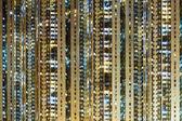 Illuminated residential building — Stock Photo