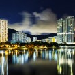 New territories in Hong Kong at night — Stock Photo