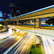 Busy traffic at night — Stock Photo