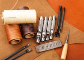 Craft tool for handmade leather — Stock Photo