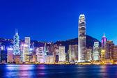 Hong kong manzarası, gece — Stok fotoğraf