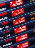 Decreasing of stock market — Stock Photo