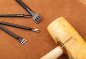 Leather craft tool — Stock Photo