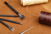 Handmade Leather craft tool — Stock Photo