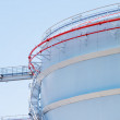 Stock Photo: Oil storage tank