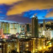 Stock Photo: Kowloon downtown at night