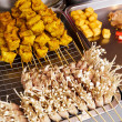 Stock Photo: Thai style grilled food on market