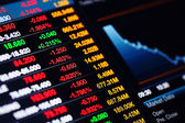 Stock market data on screen — Stock Photo