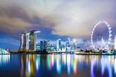 Skyline de singapour dans la nuit — Photo