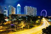 Singapur-stadt bei nacht — Stockfoto