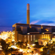 Coal power station at night — Stock Photo
