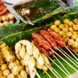 Stock Photo: Thailand style grilled food on street