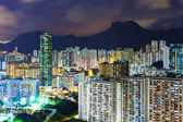 Crowded downtown and building in Hong Kong — Stock Photo