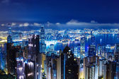 Hong Kong skyline from The peak — Stock Photo