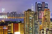 überfüllte gebäude in hongkong — Stockfoto