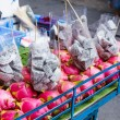 Stock Photo: Dragon fruit on market stand