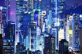 Illuminated corporate building — Stock Photo